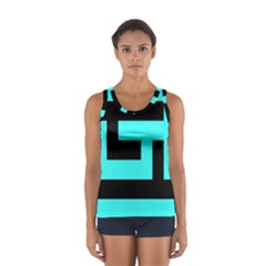 Black and Teal Tops