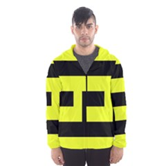 Black and Yellow Hooded Wind Breaker (Men)