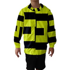 Black and Yellow Hooded Wind Breaker (Kids)