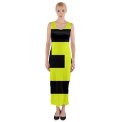 Black And Yellow Fitted Maxi Dress