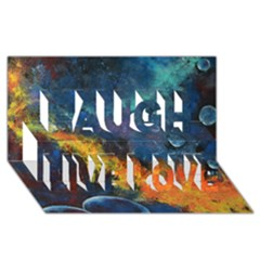 Space Balls Laugh Live Love 3d Greeting Card (8x4)