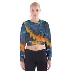 Space Balls Women s Cropped Sweatshirt