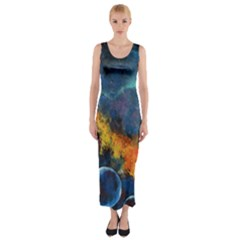 Space Balls Fitted Maxi Dress