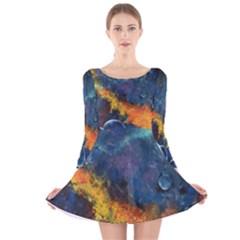 Space Balls Long Sleeve Velvet Skater Dress
