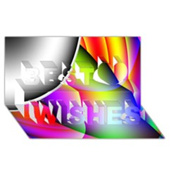 Psychedelic Design Best Wish 3d Greeting Card (8x4)