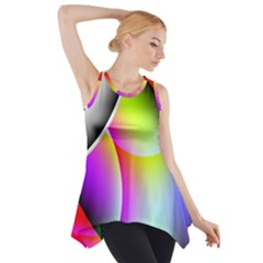 Psychedelic Design Side Drop Tank Tunic