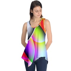 Psychedelic Design Sleeveless Tunic