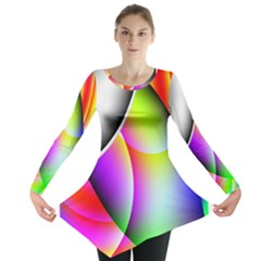 Psychedelic Design Long Sleeve Tunic
