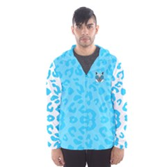 Wild Turquoise Hooded Wind Breaker (men)
