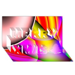 Colorful 1 Merry Xmas 3d Greeting Card (8x4)