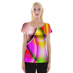 Colorful 1 Women s Cap Sleeve Top