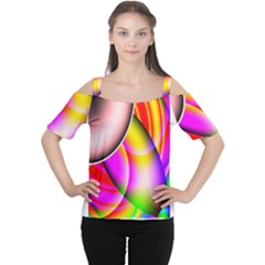 Colorful 1 Women s Cutout Shoulder Tee