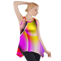 Colorful 1 Side Drop Tank Tunic