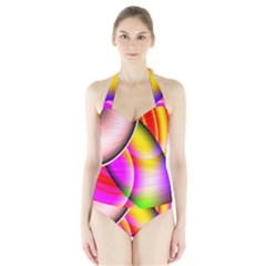 Colorful 1 Women s Halter One Piece Swimsuit