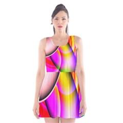 Colorful 1 Scoop Neck Skater Dress
