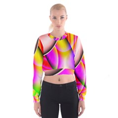 Colorful 1 Women s Cropped Sweatshirt