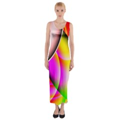 Colorful 1 Fitted Maxi Dress