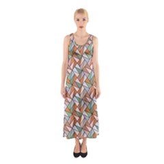 Allover Graphic Brown Full Print Maxi Dress
