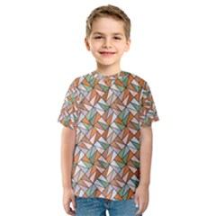 Allover Graphic Brown Kid s Sport Mesh Tee
