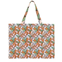 Allover Graphic Brown Large Tote Bag
