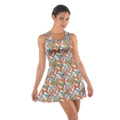 Allover Graphic Brown Racerback Dresses