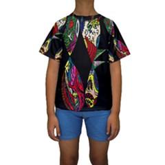 Birds Of Eight Kid s Short Sleeve Swimwear