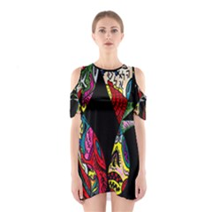 Birds Of Eight Cutout Shoulder Dress