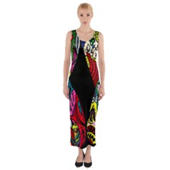 Birds Of Eight Fitted Maxi Dress