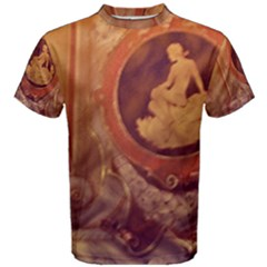 Vintage Ladies Artwork Orange Men s Cotton Tee