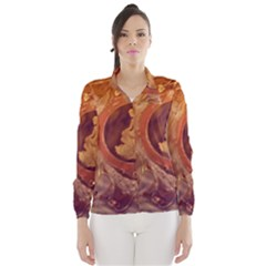 Vintage Ladies Artwork Orange Wind Breaker (women)