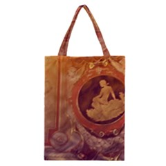 Vintage Ladies Artwork Orange Classic Tote Bag