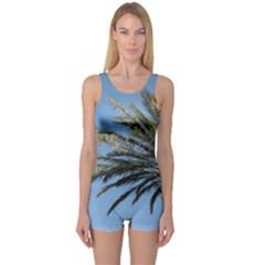 Tropical Palm Tree  One Piece Boyleg Swimsuit