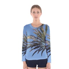 Tropical Palm Tree  Women s Long Sleeve Tee