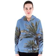 Tropical Palm Tree  Women s Zipper Hoodie