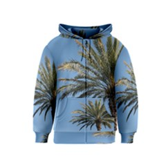 Tropical Palm Tree  Kids  Zipper Hoodie