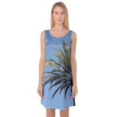 Tropical Palm Tree  Sleeveless Satin Nightdress