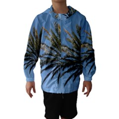Tropical Palm Tree  Hooded Wind Breaker (Kids)