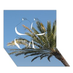 Tropical Palm Tree  Clover 3d Greeting Card (7x5)