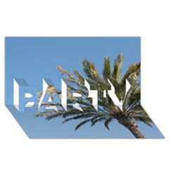 Tropical Palm Tree  PARTY 3D Greeting Card (8x4)