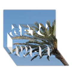 Tropical Palm Tree  Get Well 3d Greeting Card (7x5)