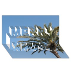 Tropical Palm Tree  Merry Xmas 3d Greeting Card (8x4)