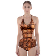Glossy Tiles, Terra Cut-Out One Piece Swimsuit