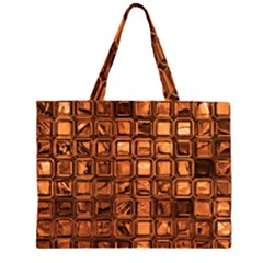 Glossy Tiles, Terra Large Tote Bag