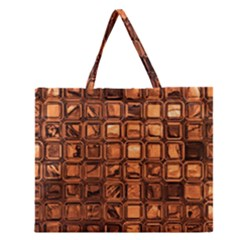 Glossy Tiles, Terra Zipper Large Tote Bag