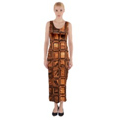 Glossy Tiles, Terra Fitted Maxi Dress