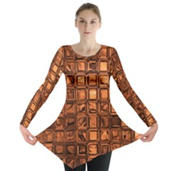 Glossy Tiles, Terra Long Sleeve Tunic
