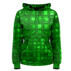 Glossy Tiles,green Women s Pullover Hoodie