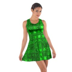 Glossy Tiles,green Racerback Dresses