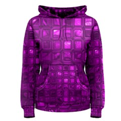 Glossy Tiles,purple Women s Pullover Hoodie