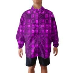 Glossy Tiles,purple Wind Breaker (Kids)